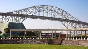 Besucher am Bayfront-Technologie-Zentrum im Corpus Christi Lizenzfreie Stockbilder