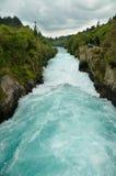 Besucher an den Huka Fällen, Taupo Lizenzfreie Stockbilder