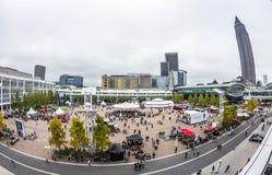 Besucher an der Frankfurt-Buch-Messe 2014 Stockfotos
