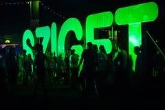 Besucher des Festivals stockbild