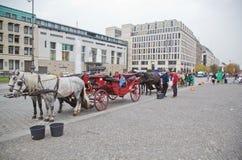 Besucher-Mitte, Berlin - Pariser Platz Stockfotos