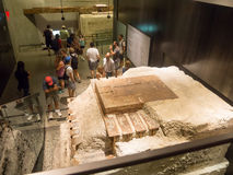 Besucher am Museum am 11. September in New York City Stockfoto