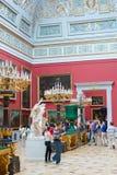 Besucherausflug am Einsiedlerei-Museum Stockfotos