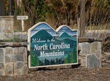 Besuchermittelwillkommensschild im North Carolina Lizenzfreie Stockbilder