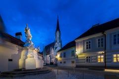 Besuchs-Abtei und Stadt Melk Lizenzfreies Stockfoto