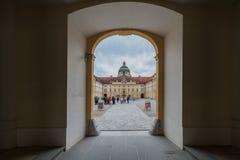 Besuchs-Abtei und Stadt Melk Stockbild