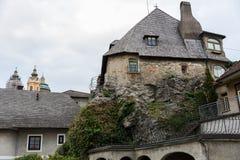 Besuchs-Abtei und Stadt Melk Stockfotografie