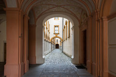 Besuchs-Abtei und Stadt Melk Stockbilder