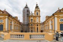 Besuchs-Abtei und Stadt Melk Stockfotos