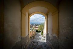 Besuchs-Abtei und Stadt Melk Stockfoto