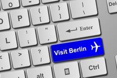 Besuchs-Berlin-Blautastaturknopf Lizenzfreies Stockfoto