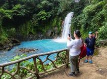 Besuchs-Rio Celeste, Costa Rica stockfotografie
