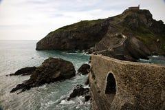 Besuchs-San Juan de Gaztelugatxe, baskisches Land, Spanien Lizenzfreie Stockfotografie