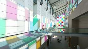 Besuchs-Straßburg-Museum von modernen Künsten stock footage