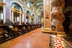 Besuchsjesuit-Kirche in Wien, Austria's-Kapital stockfotos
