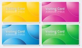 Besuchskarte - einfache Farbenauslegung