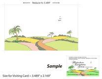 Besuchskarten-Schablone - 2 Stockbilder