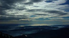 besvärad sky Royaltyfri Fotografi