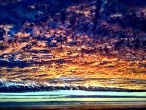Besvärade himlar Fotografering för Bildbyråer