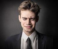 Besviken affärsman Arkivbild