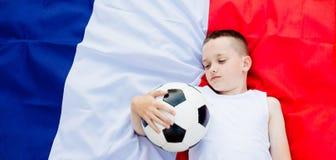 Besviket Frankrike medborgarefotbollslag royaltyfria bilder
