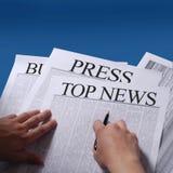 Betätigen Sie Nachrichten Lizenzfreie Stockfotos