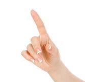 Betätigt einen Zeigefinger Lizenzfreie Stockbilder