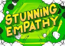 Betäubungs-Empathie - Comic-Buch-Artwörter vektor abbildung