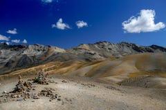 Betäubungsansicht über die ausangate Wanderung, Peru lizenzfreies stockbild