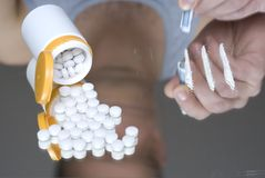Betäubungsmittelmissbrauch Lizenzfreie Stockbilder