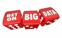 Bet on Big Data Rolling Dice Information Database Service Royalty Free Stock Photo