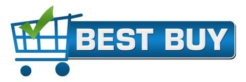 Bet Buy Shopping Cart Check Mark Blue Horizontal Immagini Stock