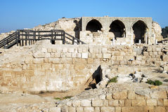 Bet Guvrin - Israel. BET GUVRIN, ISR - JAN 02: Ruins of Crusader Church in Bet Guvrin-Maresha National Park on Jan 02 2008.It was  one of the most important Royalty Free Stock Photo