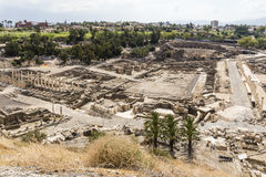 Bet She`an, Israel. Overview of the archeological site Bet She`an, Israel stock photos