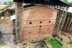 Bet maryam. The rocky church of bet maryam at lalibela in ethiopia Royalty Free Stock Photo