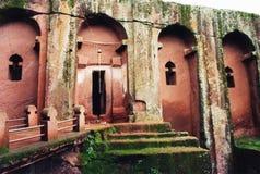 Bet merkorios. The rocky church of bet merkorios at lalibela in ethiopia Royalty Free Stock Images