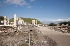 Bet She'an National Park. Archiological park, Bet She'an ruins Stock Photo