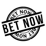 Bet Now-Stempel Stockbilder