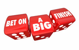 Free Bet On A Big FInish Final Results Total Dice Rolling 3d Illustra Stock Photos - 96360723