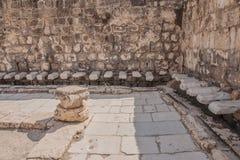 Bet Shean. Ancient roman public toilet at Bet Shean (Scythopolis) National Park, Israel Stock Photo