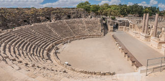 Bet Shean. Ancient roman theater at Bet Shean (Scythopolis) National Park, Israel Stock Photo