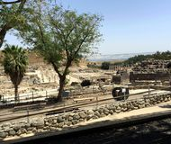 Bet Shean National Park, Israel. Ruins of Ancient Bet Shean which Collapsed during Earthquake, Israel Stock Photos