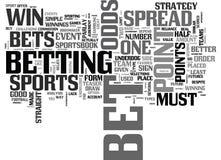 Bet On Sports Like een Proword Wolk stock illustratie