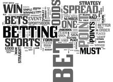 Bet On Sports Like eine Prowort-Wolke Lizenzfreie Stockbilder