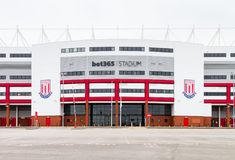 The Bet 365  Stadium Home of Stoke City Football Club. The Bet 365  Stadium formerly the Britannia Stadium, home of Stoke City Football Club in Stoke-On-Trent Stock Photo