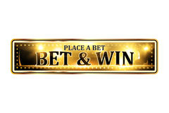 Bet and win. Place a bet - luxurious elegant icon Stock Photos