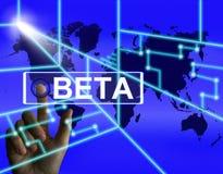 beta屏幕提到一个国际试验或演示版本 皇族释放例证