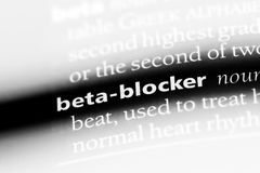 Beta-blocker. Word in a dictionary.  concept stock image