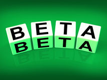 Beta Blocks Refer to Internet Development Royalty Free Stock Photography