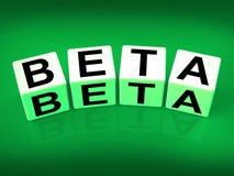 Beta Blocks Refer to Internet Development Royalty Free Stock Photography